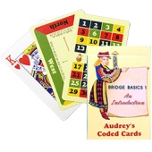 Audrey Coded Cards - Bridge Basics 1 - An Introduction