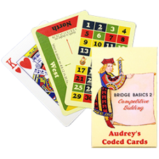 Audrey Coded Cards - Bridge Basics 2 - Competitive Bidding